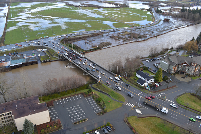 Road closures due to flooding city of courtenay